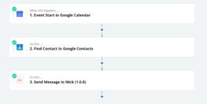 Zapier Nick Calendar Integration