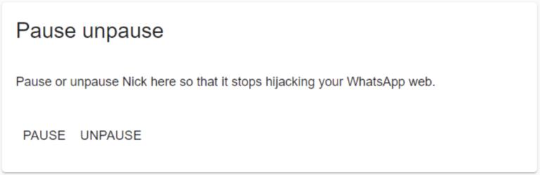Use Web Whatsapp with Nick
